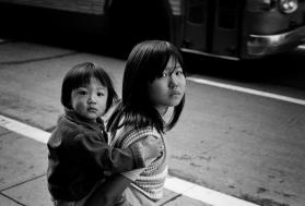 """Two Oriental Children"" Los Angeles, California 1972"