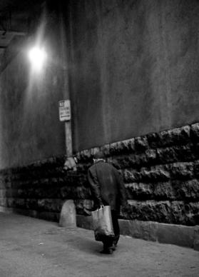 """Untitled #1"" (Man in Alley) Los Angeles, California 1972"
