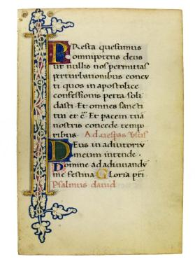 Bifolio from Book of Hours