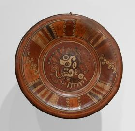 Plate with Cipactli Decoration