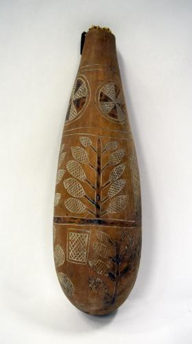 Engraved Gourd Bottle with Stopper