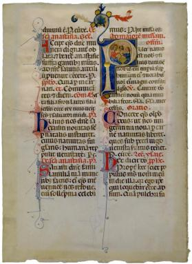 Dominican Missal Leaf