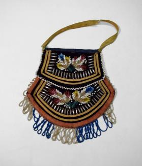 Heavily Beaded Bag with Handle