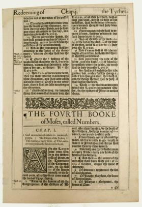 "Leaf from the King James Bible ""Authorized Version"""