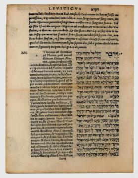 Leaf from Giustiniani's Hebrew-Latin Bible