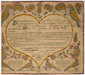 Gerburts und Taufschein (Birth and Baptismal Certificate)