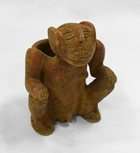 Seated Male Jaguar Figure