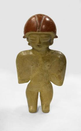Standing Figure with Red Helmet